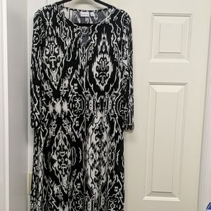 NEW Kim Rogers Black & White Pattern Dress size XL